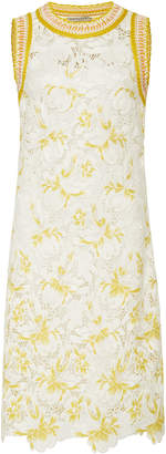 Ermanno Scervino Embroidered Lace Shift Dress