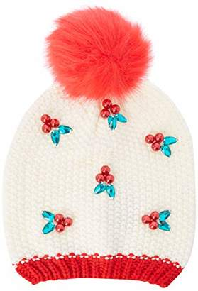 2d3fde7bb1d Yumi Women s s Embellished Holly Beanie Hat(Size Free)