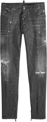 DSQUARED2 Distressed Jeans with Zipped Ankles