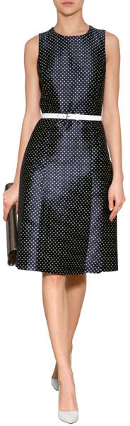 Michael Kors Polka Dot Cocktail Dress
