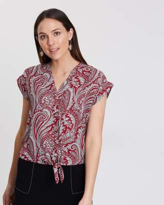 Dorothy Perkins Paisley Button Shirt