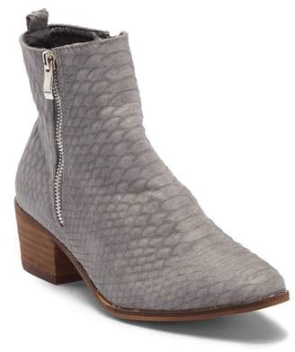 Catherine Malandrino Fannie Snake-Embossed Ankle Bootie