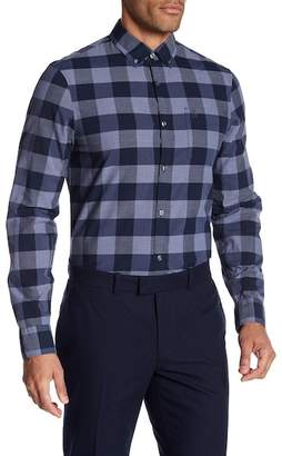Original Penguin Long Sleeve P55 End On Plaid Heritage Slim Fit Shirt