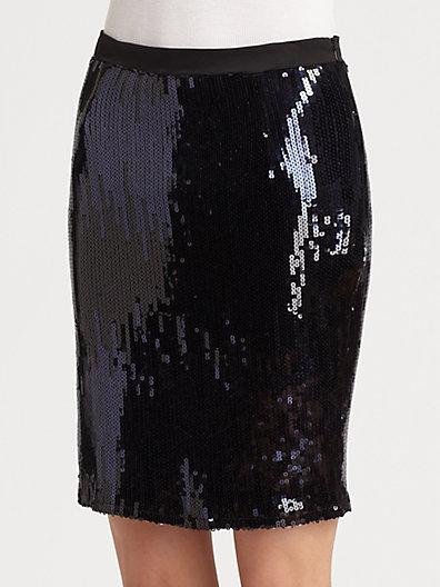 Patterson J. Kincaid PJK Holland Sequin Pencil Skirt