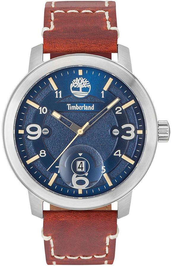 TimberlandTimberland Men's Pembroke Brown Leather Strap Watch 46mm TBL15017JS03