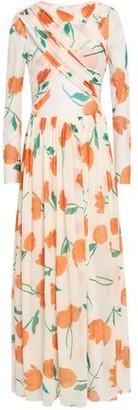 Ganni Tilden Crossover Floral-print Mesh Maxi Dress