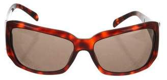 Versace Greek Key Tortoiseshell Sunglasses