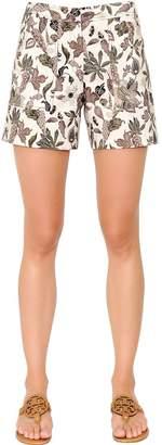 Tory Burch (トリー バーチ) - Tory Burch Printed Wool & Silk Mikado Blend Shorts