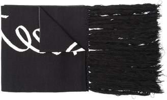 Y-3 printed scarf