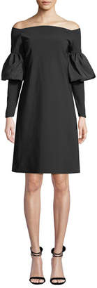 Chiara Boni Zose Taffeta Balloon-Sleeve Dress