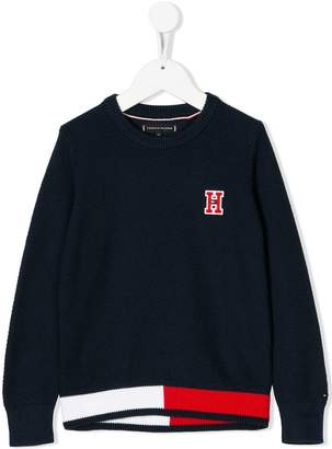 Tommy Hilfiger Junior embroidered logo jumper