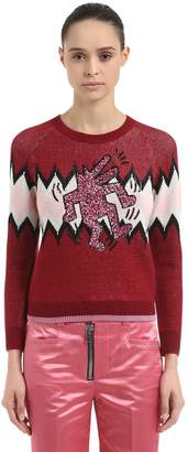 Coach Keith Haring Lurex & Wool Blend Sweater