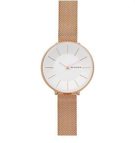 Skagen Karolina Rose Gold-Tone Steel-Mesh Watch