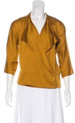 Diane von Furstenberg Silk-Blend Long Sleeve Top