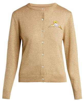Shrimps - Caroline Metallic Wool Blend Cardigan - Womens - Gold
