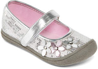 JCPenney Okie Dokie Blaire Girls Sequin and Flower Mary Janes - Toddler