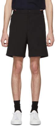 Moncler Black Elastic Waist Shorts