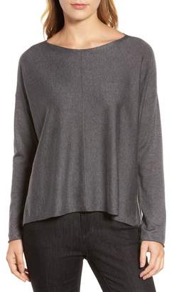 Eileen Fisher Tencel(R) Lyocell Blend High/Low Sweater
