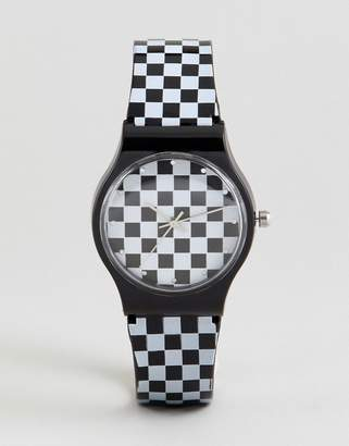 Asos DESIGN Checkerboard Watch