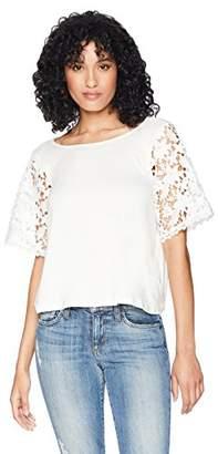 Romantic Dreamers Women's Lace-Sleeve Top