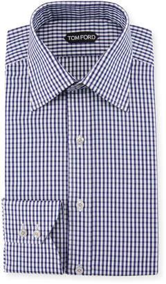 Tom Ford Men's Gingham Classic-Collar Dress Shirt