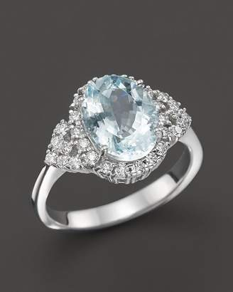 Bloomingdale's Aquamarine and Diamond Ring in 14K White Gold - 100% Exclusive
