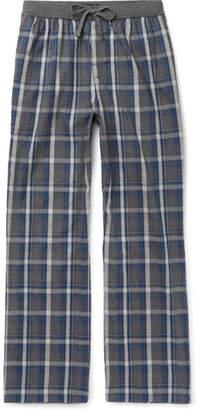 HUGO BOSS Checked Cotton-Flannel Pyjama Trousers