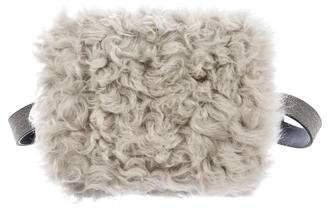 Brunello Cucinelli Monili-Trimmed Shearling Waist Bag