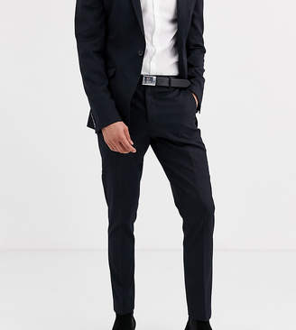 Heart and dagger skinny suit trousers in navy