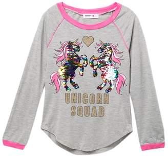 Beautees Reversible Sequin Unicorn Squad Top (Big Girls)