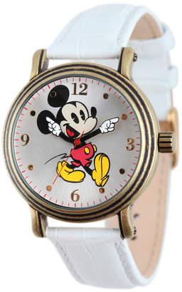 EWatchFactory Disney Mickey Mouse Women Antique Gold Vintage Alloy Watch