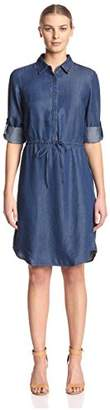 James & Erin Women's Drawstring Waist Dress