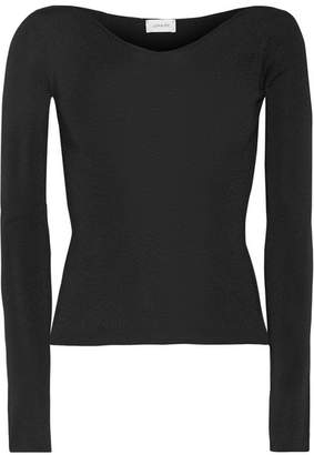 Lemaire Wool And Silk-blend Sweater - Black