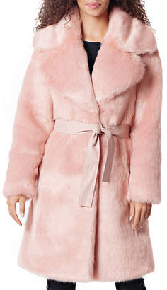 Fabulous Furs Diva Faux-Fur Coat w/ Belt
