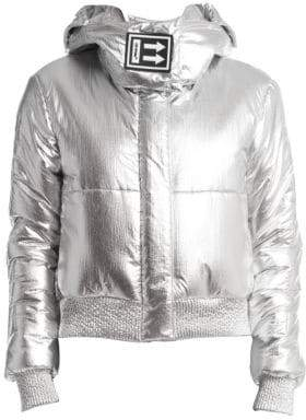Off-White Metallic Puffer Jacket