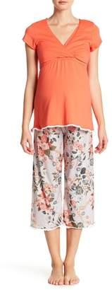 Majamas The Lacey Cropped Nursing Pajama Set (Maternity)