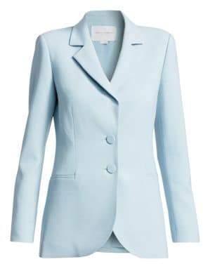 Carolina Herrera Two-Button Wool Blazer