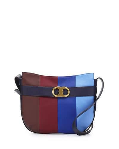 Tory BurchTory Burch Gemini Link Belted Striped Shoulder Bag, Multi