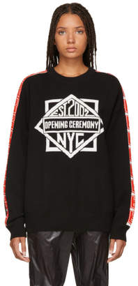 Opening Ceremony Black Jacquard Logo Sweater