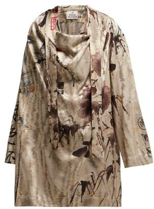 Vivienne Westwood Garret Chinese Jacquard Blouse - Womens - Grey Multi