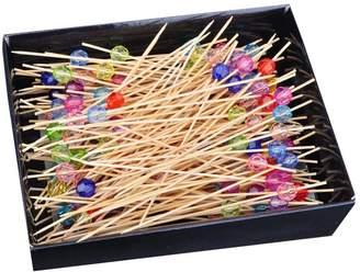 East Majik 200 Counts Assorted Colors Cocktail Picks Cake/Desserts Decoration