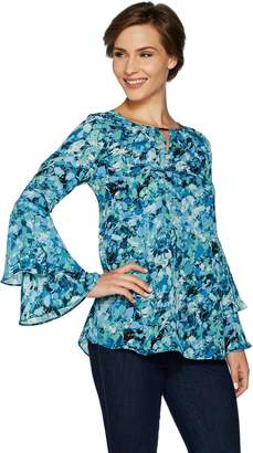 Belle By Kim Gravel Belle by Kim Gravel Woven Blouse with Ruffled Sleeves