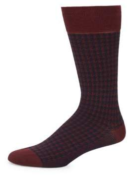 Bruno Magli Geometric Dress Socks