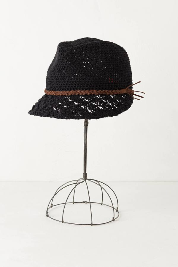 Anthropologie Hermosa Crochet Cap