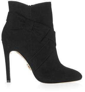 6381839153 Next Lipsy Stiletto Bow Detail Ankle Boots - 35.5 (UK 3)