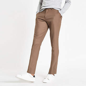 River Island Camel skinny fit smart pants