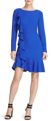 Donna Karan Ruffled Twill Dress