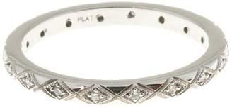 Vintage Art Deco Platinum with .25ct Diamond Band Ring Size 6.5