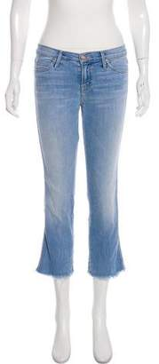 Mother Light Kitty Mid-Rise Straight-Leg Jeans