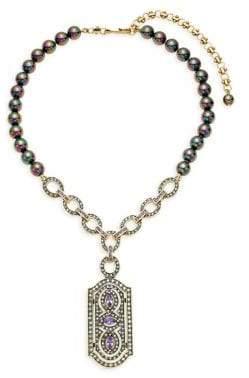 Heidi Daus Dent Desire Faux Pearl & Crystal Drop Pendant Necklace